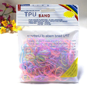 Wholesale 300pcs pack elastic band bracelet style hair accessories girl headband clips gum braiding bow bandana ornaments hoop bezel ring