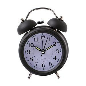 Wholesale Hot Sale Alarm Clock Classical Double Bell Silent No Ticking Desk Table Alarm Clock Bedroom Office Bedside