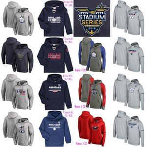 Wholesale toronto maple leafs jersey hoodie resale online - Mens Lady Youth Stadium Series Pullover Hoodie Jersey Washington Capitals Toronto Maple Leafs Stitched Hockey Jerseys Mix Order