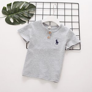 cotton t shirt 2018 INS NEW ARRIVAL boy Girls Kids t shirt short Sleeve high quality cotton causal pure color summer POLO t shirt 4 colors