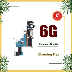 Wholesale Charging Charger Port USB Dock Connector Flex Cables For iPhone quot Headphone Jack Mic Flex Cable White Dark Gray Light Gray