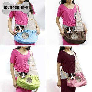 Wholesale 2018 Hot Sale Canvas Breathable Pet Single Shoulder Bags Portable Bag for Small Dog and Cat Pet Bag with Air Mesh