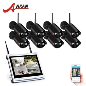 Wholesale ANRAN CH Wireless Surveillance System LCD Screen Wifi NVR K P HD H Outdoor Night Vision Security Camera System