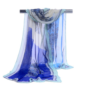Wholesale 2018 New hijab Fashion cashew Nut Print scarves female shawls super silk chiffon korean decorative fabric air conditioning package belts