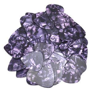 Lots of 100 pcs Thin 0.46mm Blank Guitar Picks Plectrums Celluloid Pearl Purple