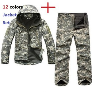 Wholesale Tactical TAD Gear Soft Shell Camouflage Outdoor Jacket Set Men Army Sport Waterproof Hunting Clothes ACU Military Jacket Pants Y1893006