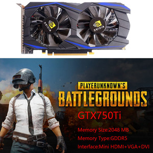 ingrosso scheda video a 128 bit-GTX750TI GB GDDR5 a bit PCI Express Video Graphics Card Computer Supplies Desktop PC Independent Gaming Graphics Card High Quality