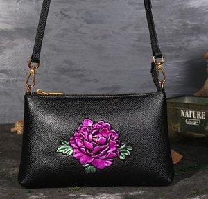 Wholesale Peony lotus bag rose classical embossed flower shoulder wholesale Kingfisher sunflower bags cross body handbag women purse IT Fr US EUR
