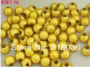 Wholesale 1000pcs Gold Yellow Pick Gray Round Acrylic Miracle Charm Luminous Loose Beads Charms For Jewelry Making Accessories mm M1076