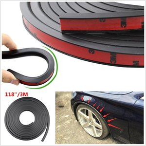 bengalas de defensa al por mayor-Universal PVC Car Fender Flares Extension Negro Wheel Eyebrow Protector Lip Trim