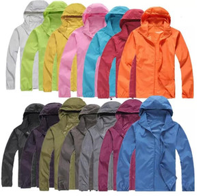 Wholesale NEW Hiking Windbreaker XS-XXXL Women Men raincoat Outdoor Sport Waterproof Jacket Windproof Quick-dry Clothes Skinsuit Plus Size Outwear