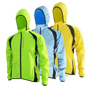 Wholesale Wholesale- 2017 Breathable Windproof Running Jacket Cycling Raincoat Bicycle Rain Coat Bike Mens Women Cycling Windbreaker Jerseys