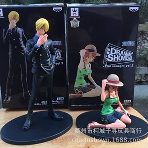 Wholesale 2pcs set Nami Sanji One Piece Anime Collectible Action Figures PVC Collection toys for christmas gift