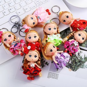 Fashion Cute Plush Doll Baby Simulation Baby Keychains Girls Bags Car Pendants Keyring Jewelry Multicolor Jewelry