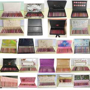 Wholesale 12color =1box High-quality Newest 12 Fashion Color Matte Lipgloss Waterproof Lasting No fading DHL free shipping
