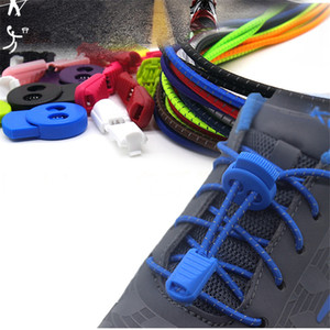 Wholesale Colorful recessive shoelace Lazy shoe lace outdoor hiking running Sport casual shoes shoelace adjustable elastic bands with retail package