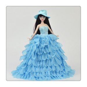 Princess Evening Party Clothes Wears Dress Outfit Set for Doll with Hat Suitable For A Girl To Make A Gift