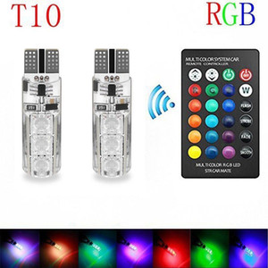 Wholesale T10 Led Bulb Car Interior Light RGB Led Tail light Bulb W5W Bulb Marker Remote Control Light Reading Wedge License Plate Replacement