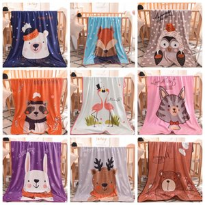 Wholesale playmat baby for sale - Group buy Baby Blankets Coral fleece Throw Blankets Super Soft Infant Blanket Cartoon Baby Stroller Covers Kids Playmat Flamingo Designs YW1595
