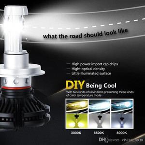 X3 Type H4 H7 H11 9005 9006 H13 Car LED Headlights Bulbs 50W 6000LM CREE Chips All in one 3000K 6500K 8000K