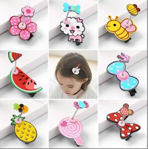 Wholesale 2018 Pet Cats Grooming Accessories Clips Dogs Cartoon spring clip princess cute baby hair clip Hairpin Flower
