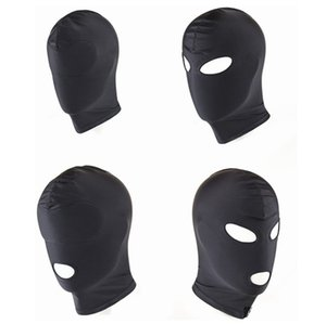 Wholesale New Arrival Adult games Fetish Hood Mask BDSM Bondage Black Spandex Mask Sex Toys For Couples Specifications To Choose