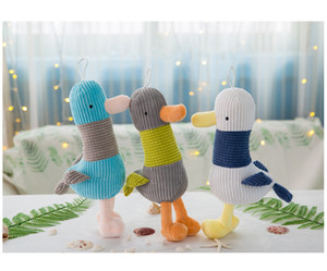 Wholesale Seagull Plush Doll Girls Boys Cute Toys Patchwork Stuffed PP Cotton Super Soft Comfortable Creative Festival Birthday Gift Striped