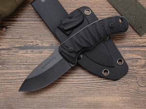 Fixed blade hunting knife Outdoor tactical survival knife K sheath small knife Free shipping on Sale