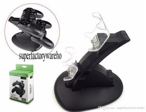 Wholesale Ps4 xbox one wireless controller usb charging dock mount stand holder for ps4 xbox one gamepad playstation dual chargers