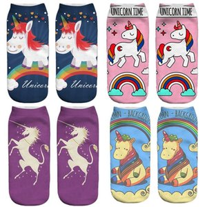 Wholesale 2018 New Colorful Unicorn Licorne soft Cotton Socks Women Spring Summer Funny Socks Sweet D Prints Socks For Pregnant Maternity