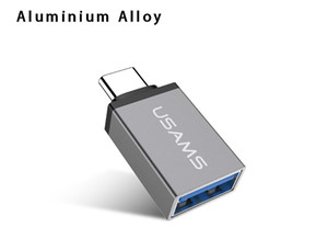 USAMS Type C Metal USB C Male To USB 3.0 Female For Samsung Xiaomi MacbookType C Converter OTG Adapter