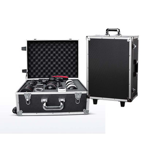 Wholesale photography Rolling Luggage Spinner SLR camera Multi lens storage box Suitcase Wheel Camera equipment Toolbox
