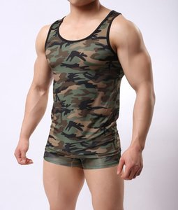 New Casual Thin Vest Military Style Camouflage Men Vest Sexy Camouflage Men Clothing Sexy Underwear Bodysuit Mens Bodywear Hotsale