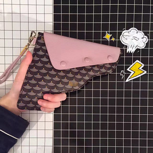2018 Paris, France, Fl P handmade classic fish-scale pattern picture pistol bag hand carry bag strap purse wallet on Sale