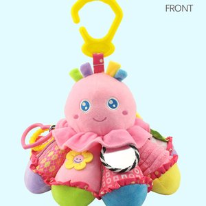 New Cute Pink Yellow Baby Toy Octopus Plush Doll Infant Intelligence Development Puzzle Early Education Doll