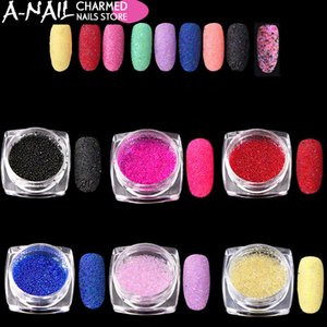 Wholesale 12 jars set Colorful Mini Nail Caviar Glass Rhinestones Colors Micro Beads Balls Manicure Tools DIY D Nail Art Decoration