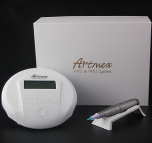 Wholesale New Smart Makeup Tattoo Permanent Make up Machine Dual Pen Digital Micro Sculpture Dermapen Artmex V6 DHL