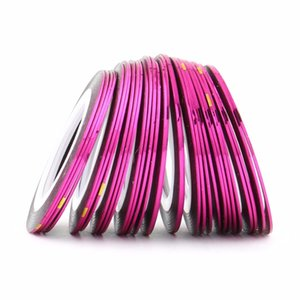 Wholesale 30Pcs Rolls D Striping Tape Line Sticker Tips DIY Nail Art Decoration Sticker Self Adhesive Fingernail Decal Tools Nail Tips