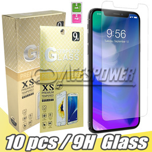 Wholesale Tempered Glass For New Iphone Pro Max XR Plus LG Samsung J3 J7 Prime Screen Protector with Paper Package