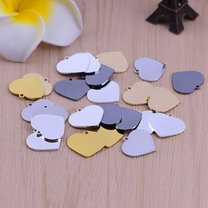 Wholesale 20 mm Brass Accessories Small Heart Charm DIY blank flat Heart pendant for Jewelry Making Findings