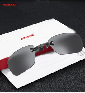 WEARKAPER Matrix Morpheus Apple Style Rimsless Sunglasses Men Clamp Nose Movie Sun Glasses Portable Eyewear