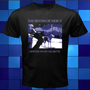 Wholesale The Sister Of Mercy Lipstick On My Cigarette Black T Shirt Size S M L Xl xl xl Fashion Short Sleeve Sale Cotton