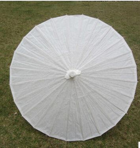 Wholesale New Eco-friendly Bamboo White Color Long-handle Bridal Wedding Paper Parasols DHL Fedex Free Shipping