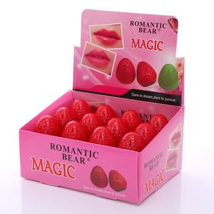 ROMANTIC BEAR Magic Strawberry Lip Balm Moisturizing Chapstick Cute Ball Natural Lips Pomade Fruity Care Makeup