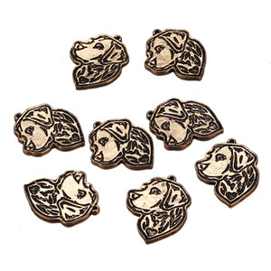 Wholesale 100PCS x27mm New Zinc Alloy Antique Silver Gold Color Animal Pendant Portrait Dog Charms for Jewelry DIY Necklace Making Accesspries