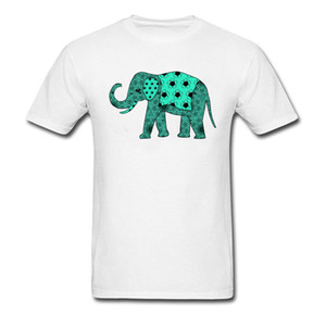 Wholesale Elephant Plain Mens T Shirts Round Collar Short Sleeve Cotton Tops Shirts Cool Tee Shirt