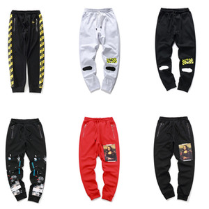 Wholesale Red Black Mona Lisa arrival mens letter decoration sweatpants designer pants luxury mens yoga joggers track sweat pants