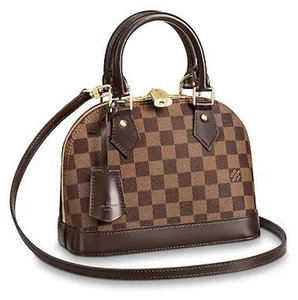 2019 N41221 ALMA BB Plaid brown Real Caviar Lambskin Le Boy Chain Flap Bag HANDBAGS SHOULDER MESSENGER BAGS TOTES