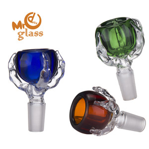 Dragon Claw Bowl Colorful Glass Bowl Joint With 14mm And 18mm Male Joint For Glass Bongs Water Pipes Retail