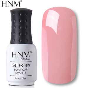 Wholesale HNM 8ml Nail Polish Pure Nail Gel Polish Vernis Semi Permanent Top Coat Base Coat Lacquer Manicure Stamping Paint Gellak Hybrid